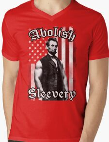 Abolish Sleevery (Vintage US Flag) Mens V-Neck T-Shirt