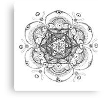 Flower Merkaba Original Drawing Canvas Print