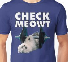 Check Meowt (Weightlifting Cat) Unisex T-Shirt