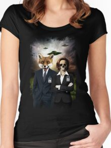 Fox and Skully Women's Fitted Scoop T-Shirt
