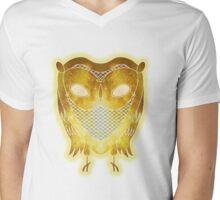 Cosmic Owl Mens V-Neck T-Shirt