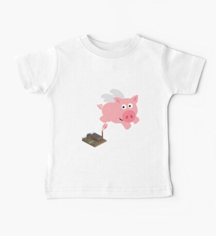 Pig out of slaughterhouse Baby Tee