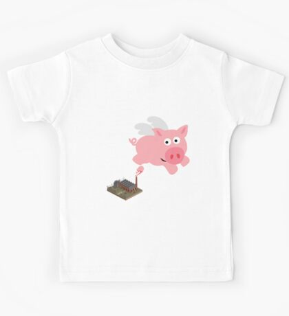 Pig out of slaughterhouse Kids Tee