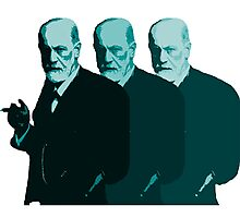 Faded Freud In Blue Photographic Print