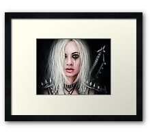 Sword In the Dark Framed Print