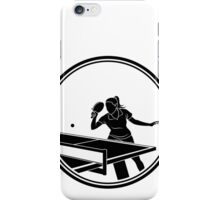 Womens Table Tennis iPhone Case/Skin