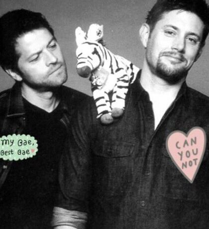 Misha Collins and Jensen Ackles  Sticker