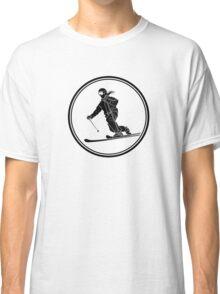 Womens Telemark Skiing Classic T-Shirt