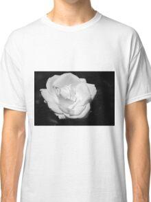 Heart Petal White Rose Classic T-Shirt