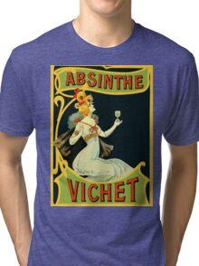 Absinthe Vichet, modern art nouveau Tri-blend T-Shirt