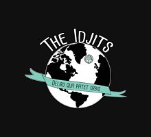 Team the_Idjits Merch WHITE OUTLINE Zipped Hoodie