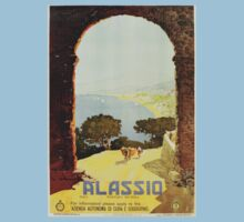 Vintage 1920s Alassio Italian travel advertising One Piece - Short Sleeve