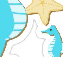 Blue Seahorses Graphic Art Sticker