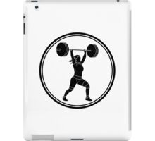 Womens Weightlifting iPad Case/Skin