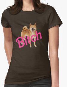 Bitch Shibe Womens Fitted T-Shirt