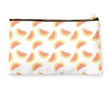 Grapefruit/Blood orange repeat pattern (white) Studio Pouch