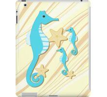 Blue Seahorses Graphic Art iPad Case/Skin