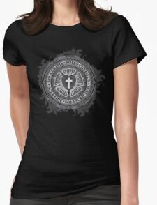 Luther Rose Christian Luther Seal Womens Fitted T-Shirt