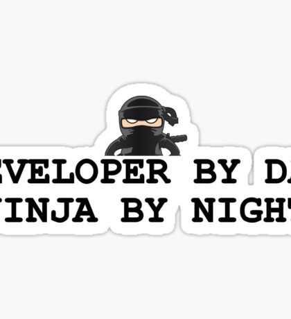 ninja developer programming computer Sticker