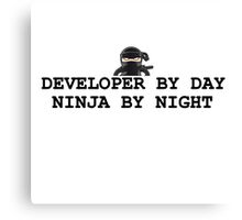 ninja developer programming computer Canvas Print