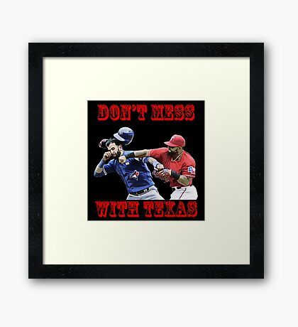 don't mess Framed Print