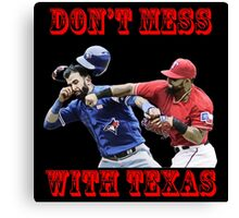 don't mess Canvas Print