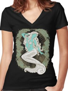 Song of the Siren, Light Women's Fitted V-Neck T-Shirt