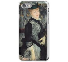 Edouard Manet - Skating 1877 French Impressionism , Woman , Portrait , Fashion iPhone Case/Skin