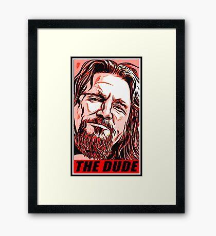 the dude Framed Print