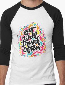Eat & Travel Men's Baseball ¾ T-Shirt
