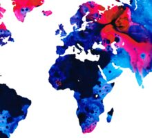 Map of The World 9 -Colorful Abstract Art Sticker