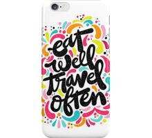 Eat & Travel iPhone Case/Skin