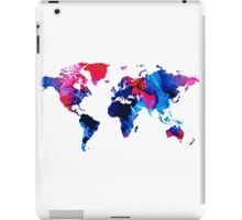 Map of The World 9 -Colorful Abstract Art iPad Case/Skin
