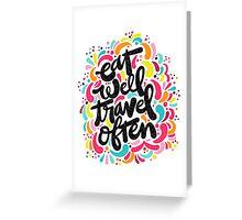 Eat & Travel Greeting Card