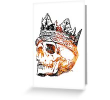 Fire King Skull Greeting Card