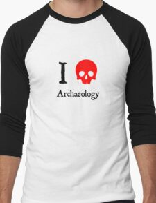 I Heart Archaeology Men's Baseball ¾ T-Shirt