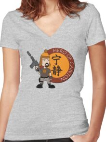 Hero of Canton Women's Fitted V-Neck T-Shirt