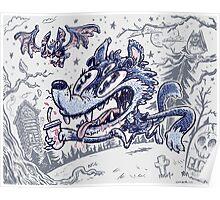 Wolf & Bat Poster