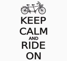 keep calm and ride on word art, text design Kids Tee