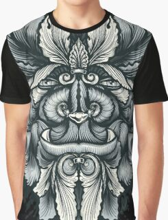 Filigree Leaves Forest Creature Beast Variant Graphic T-Shirt