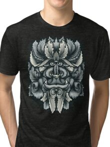 Filigree Leaves Forest Creature Beast Variant Tri-blend T-Shirt