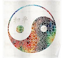 Yin And Yang - Colorful Peace - By Sharon Cummings Poster