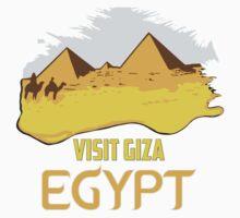 Retro vintage style visit Egypt pyramids travel ad  One Piece - Long Sleeve
