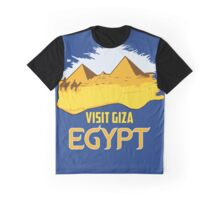Retro vintage style visit Egypt pyramids travel ad  Graphic T-Shirt