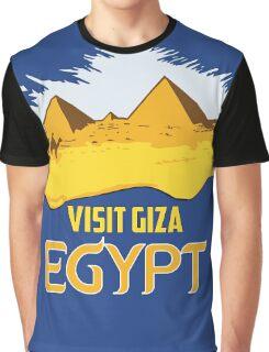 Retro vintage style visit Egypt pyramids travel ad  Graphic T-Shirt