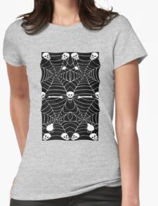 Shaped Version of Skull Halloween 2015 Womens Fitted T-Shirt