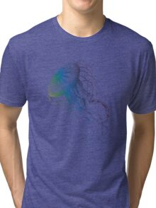 colorful jellyfish, sea life, drawing, illustration Tri-blend T-Shirt
