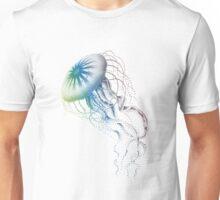 colorful jellyfish, sea life, drawing, illustration Unisex T-Shirt