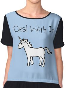 Deal With It (Unicorn) Chiffon Top