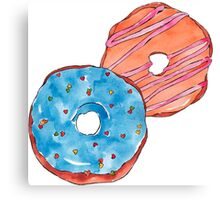 Donuts #FOOD  Canvas Print